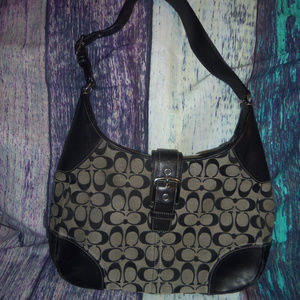 Coach Signature Hampton Large Hobo Bag + Pouch